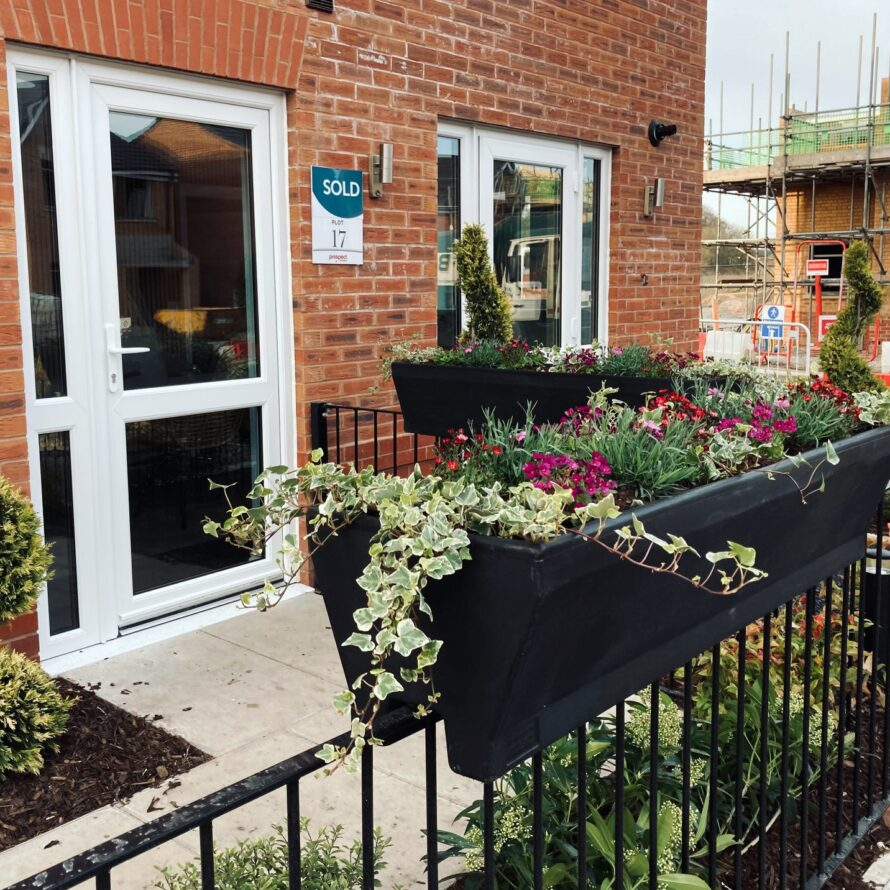 Plantscape housebuilder planters for show homes