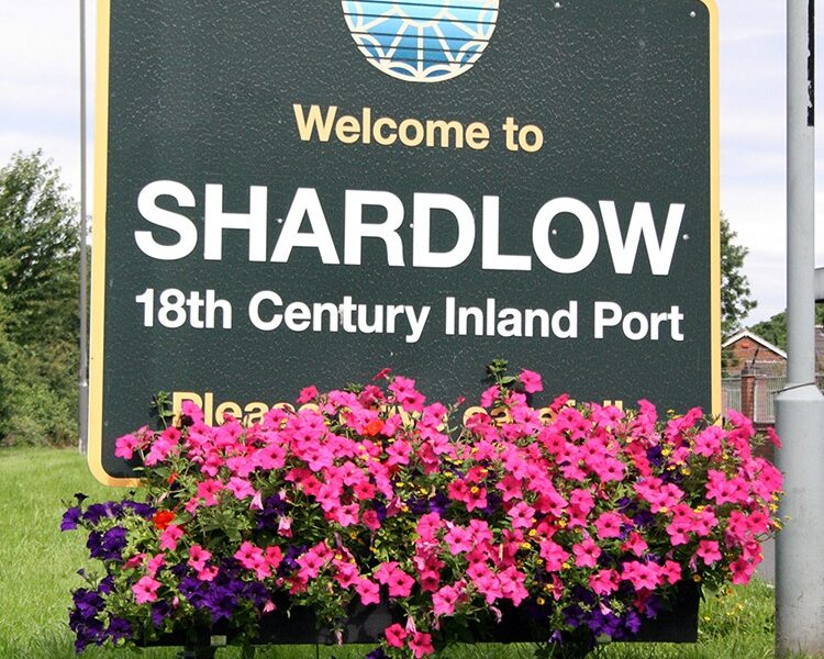 Plantscape welcome sign Shardlow