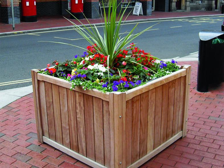 Plantscape box clevers wooden planter cladding