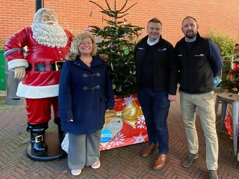 Plantscape festive Christmas tree surround Worthing